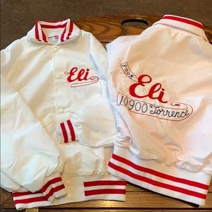 2 Vintage 1970's King Louie Bowling Team jackets